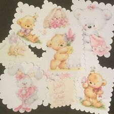 Bulk Card Toppers And Scrapbooking Embellishments..... Teddy Bears And Rabbits