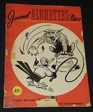 1949 - CFL - MONTREAL ALOUETTES vs TORONTO ARGINAUTS - MONTREAL PROGRAM