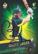 ✺Signed✺ 2015 2016 AUSTRALIAN Cricket Card GEORGE BAILEY Big Bash League