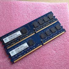 2GB 2x 1GB DDR2-667 PC2-5300U CL5 RAM Desktop PC Speicher Intel+AMD