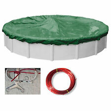 Supreme Green/Black Swimming Pool Winter Cover Tarps (Various Sizes and Shapes)