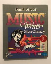 C-64 BANK STREET MUSIC WRITER COMPLETE SOFTWARE PACKAGE WRITERS REVIEW COPY