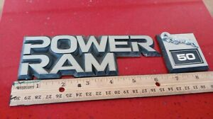 1987-1989 DODGE POWER RAM 50 DRIVER SIDE EMBLEM BADGE SYMBOL LOGO OEM (1988)
