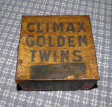 c1910 Golden Twins Climax Plug Tobacco Tin American Indian Tax Stamp Buy It Now