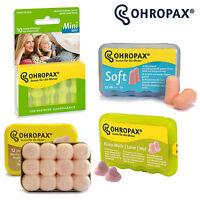 Ohropax Ear Plugs Soft Foam, Classic Wax, Climate Wool Sleep Snore Mini Earplugs