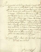Lettera Magistrato Richiesta Riscossione Debito delle Città Stato Milano 1630