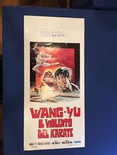Knight Errant (Wang Yu Il Violento Del Karate) 13×27 Original Movie Poster 1973