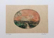 François Heaulmé Monotype Signée Paris Champagne Cahors art brut expressionniste