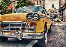 BEAUTIFUL CLASSIC TAXI CAR CANVAS PICTURE #38 STUNNING RETRO CAR A1 CANVAS