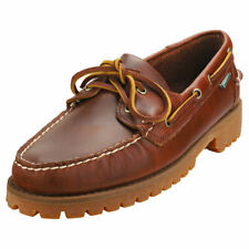 Sebago Ranger Waxy Mens Brown Gum Leather Boat Shoes