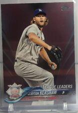 Clayton Kershaw - 2018 Topps Series 1 #59 League Leaders Purple 27/50 Dodgers