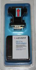 ADVENT DVI-I F to VGA M ADAPTOR for MONITORS, PROJECTORS & TVs - RRP=£14.99