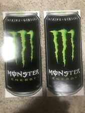 """2 Monster Energy Drink Logo Can 11"""" Sticker Decals"""