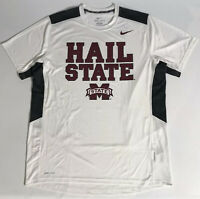 Nike Mens Dri-FIt Athletic Workout Shirt Mississippi State Bulldogs Hail State L