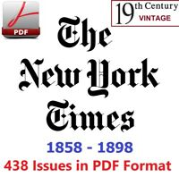 The New York Times 438 issues in PDF. (1858, 1859, 1864, 1865, 1877, 1879, 1898)