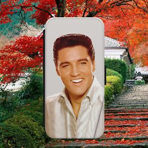 ELVIS PRESLEY/KING SMILES AGAIN/FLIP WALLET PHONE CASE FOR IPHONE/SAMSUNG/HUAWEI