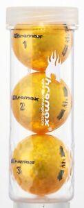 Chromax M5 Metallic High Visibility Gold Golf Balls, Tube of 3, NEW
