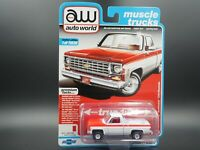 AUTO WORLD 1976 CHEVY SCOTTSDALE C10 FLEETSIDE OLYMPIC EDITION REL 1 VER A 1:64
