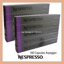 100 Capsules Nespresso Coffee Arpeggio Pods (Intense and creamy) Intensity 9