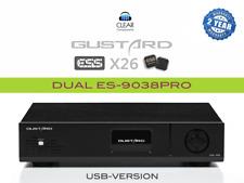 GUSTARD X26 BL* ES9038-PRO DSD DAC DIGITAL ANALOG CONV. USB DA WANDLER HIGHEND