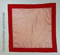 Tischdecke Mitteldecke WEIHNACHTEN Decke STERNE Deckchen rot-gold ORGANZA 85x85