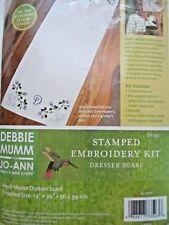 Stamped Cross Stitch Dresser Scarf Debbie Mumm Herb House FREE SHIP
