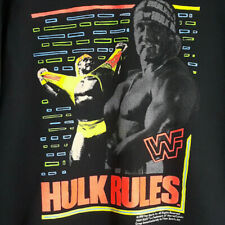 Vintage NEW Hulk Hogan Hulk Rules WWF 90s Sweatshirt Black Youth Sz L