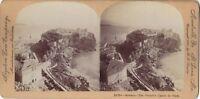 Monaco Panorama Foto Stereo Stereoview di Carta Citrato Vintage