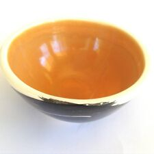Vintage JILL SYMES Melbourne Australian Studio Pottery Hand Painted Ochre Bowl