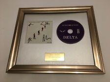 PERSONALLY SIGNED/AUTOGRAPHED MUMFORD & SONS - DELTA  FRAMED CD PRESENTATION