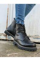 Chekich CH009 Bottes pour Hommes de Motard Ranger Chaussures D'Hiver EU40-44
