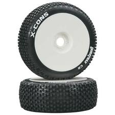 NEW Duratrax 1/8 X-Cons Buggy Tire C2 Mounted White (2) DTXC3610
