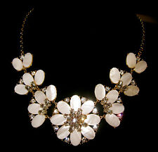 AUTHENTIC Kate Spade NY Bungalow Bouquet Short Necklace MOTHER OF PEARL BRIDAL