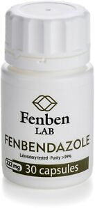 Fenbendazol 222mg, Purity >99% Fenben Lab, Third-Party Test Results, 30 capsules