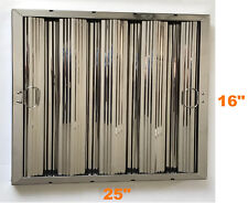 """Box of 6 Stainless Steel Commercial Range Hood Baffle Grease Filter 16"""" x 25"""""""