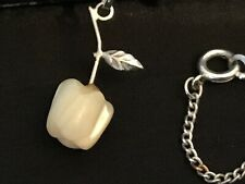 Vintage Glass Apple Pendant and Chain Necklace #5790