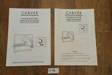 (Ref 11-16) Carver Fanmaster Warm Air Fan Heater Instructions & Installation
