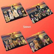 Family Sunset Dog Cat Blanket, Pet Photo Lovers Sherpa Fleece Throw Blanket