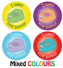 144 x Potty Training Reward Stickers Boys Girls Parents Toilet Learning Award