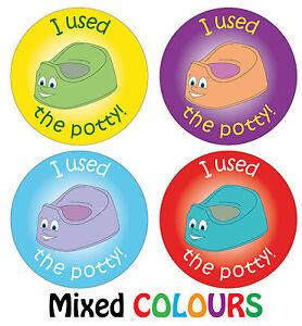 144 x Potty Training Reward Stickers Boys Girls Parents Toilet Learning Award