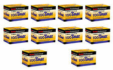 10 Rolls Kodak 100 Tmax TMX film 35mm 36 exposures Black & White T Max 04/2018