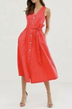 New Ted Baker RYYLIE Button down cotton midi Shirt dress Size UK 14 Baker4