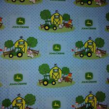 John Deere Nursery Baby Barn Yard Scenic 100% cotton fabric by the yard