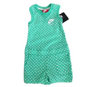 Nike Girls Polka Dot Sleeveless Bodysuit Romper Jumper Size 6X MSRP $35
