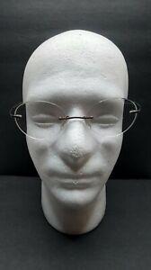 Silhouette Eyeglasses 7581 40 6055 Brown Rimless Metal Frame Austria 19 140