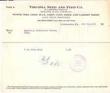 1930 VIRGINIA SEED and FEED COMPANY W. C. Barksdale LYNCHBURG Virginia