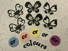 Butterflies small silhouette you choose the colour set of 6 die cuts
