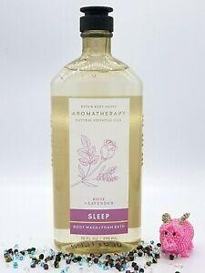 Bath and Body Works SLEEP - ROSE LAVENDER  Body Wash Foam Bath 10 oz