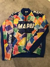 Team Mapei - Santini Long Sleeve Zip Up Jersey - XXL - Eroica / Vintage