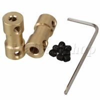 2pcs 3mm-4mm Brass Joint Motor Shaft Coupling Adapter Connector for RC Aircraft